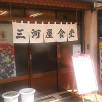 肉生姜焼きと目玉焼き定食_三河屋食堂(三田)_747288