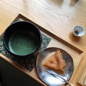然カステラたお抹茶のセット
