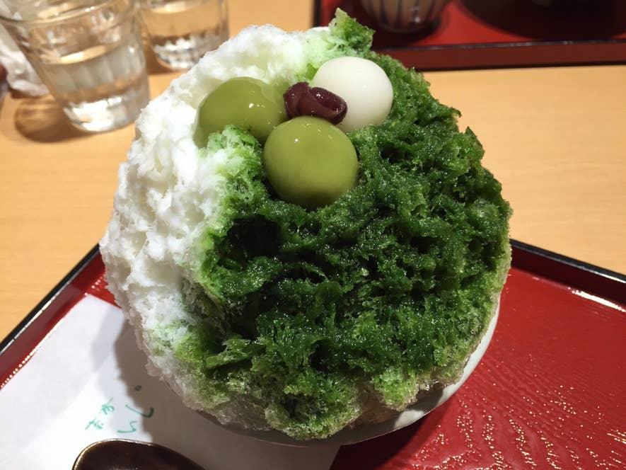 『抹茶かき氷』も、抹茶スイーツ好きには外せませんよね。/Kana Mtymさんの投稿より