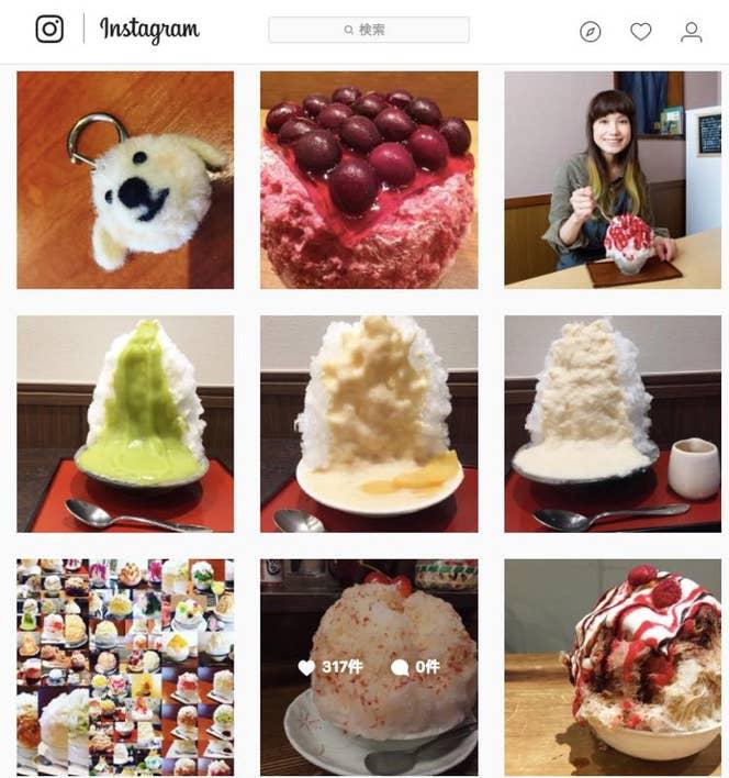 ▲毎日大量の数のかき氷画像がアップされている原田さんのインスタグラム**@achakoko**