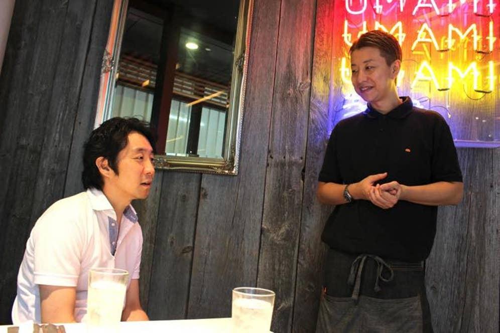 ジェネラルマネージャーの澁谷晃輔さん(右)も取材に参加してくれました!