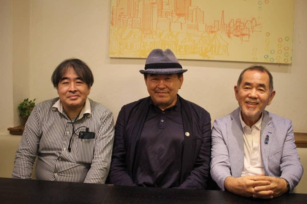 ▲左から、河田剛氏・マッキー牧元氏・山本益博氏