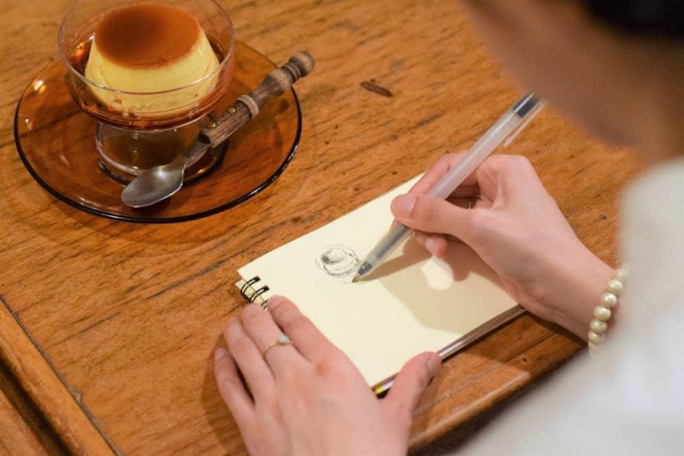 ▲「ここがおいしそう!と思うポイントを強調して描くことを意識しています」と、めりさん
