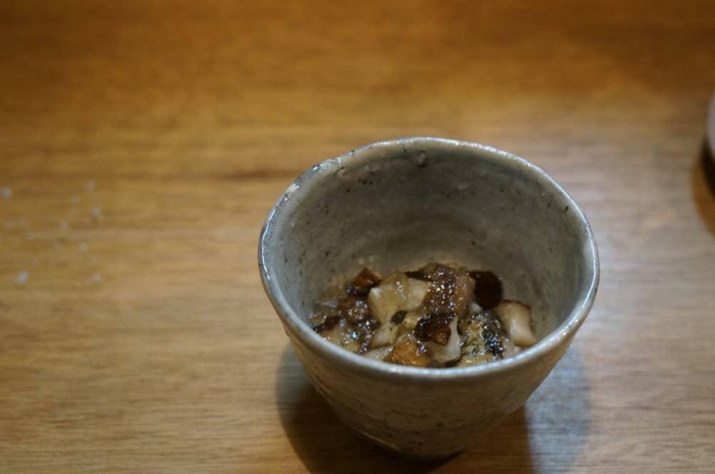 焼き椎茸の出汁ジュレ和え