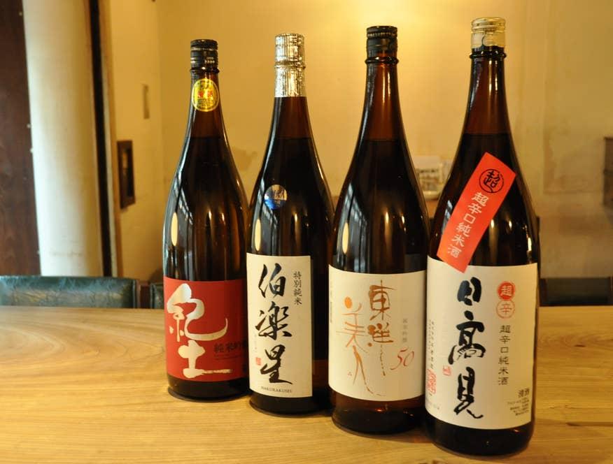 ▲日本酒各種 1合750円〜