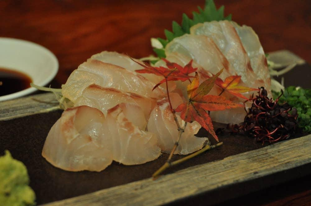 ▲天然真鯛の昆布締め1200円