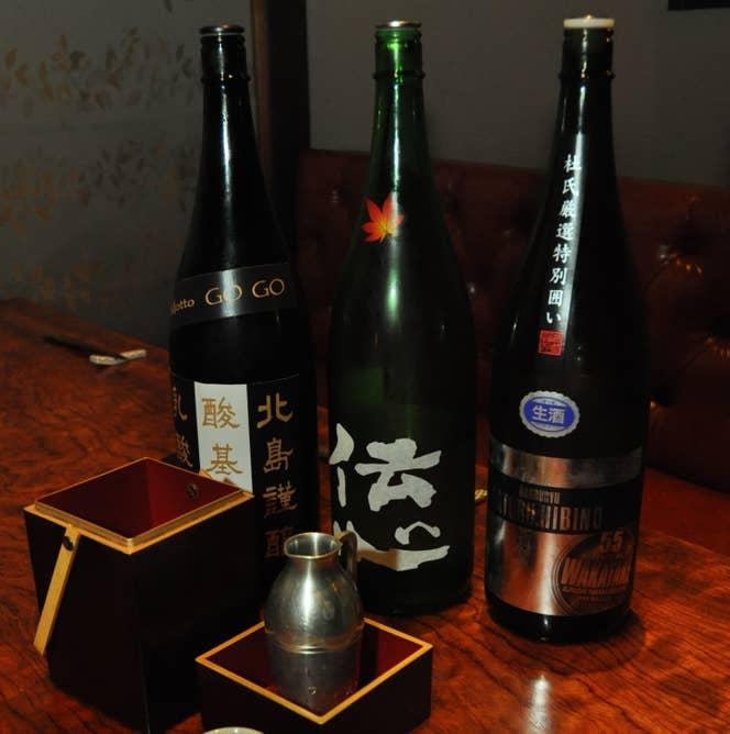 ▲日本酒・和酒各種 グラス500円〜