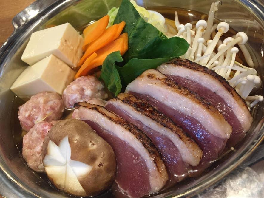 ▲「蔵王産 鴨鍋」(1人前2980円)