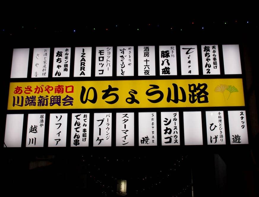 阿佐ヶ谷駅南口からすぐの「いちょう小路」