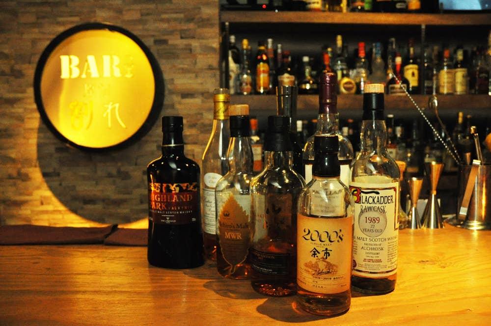 ▲こだわりのウイスキーも原価で。限定の山崎もたった480円とのこと。
