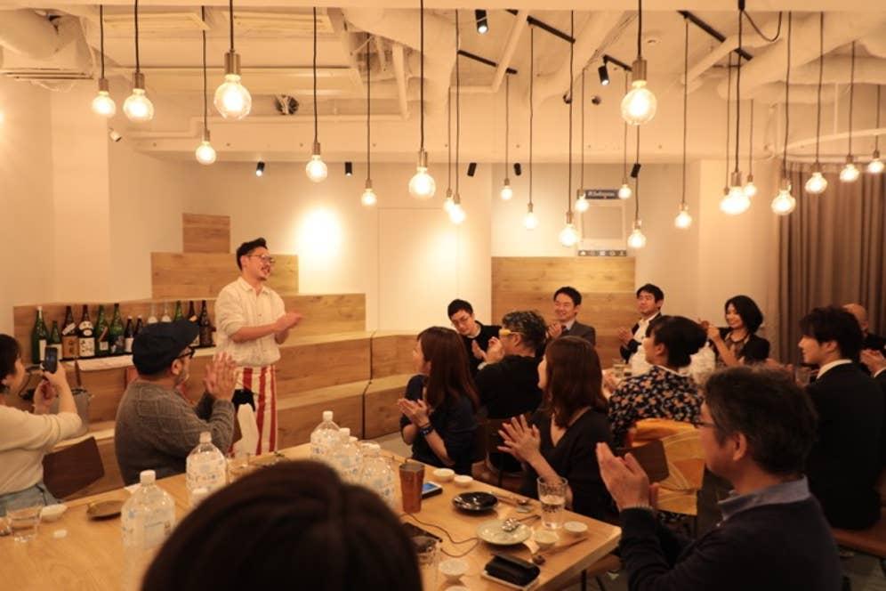 ▲イベントには20名の日本酒好きが集まってくれました