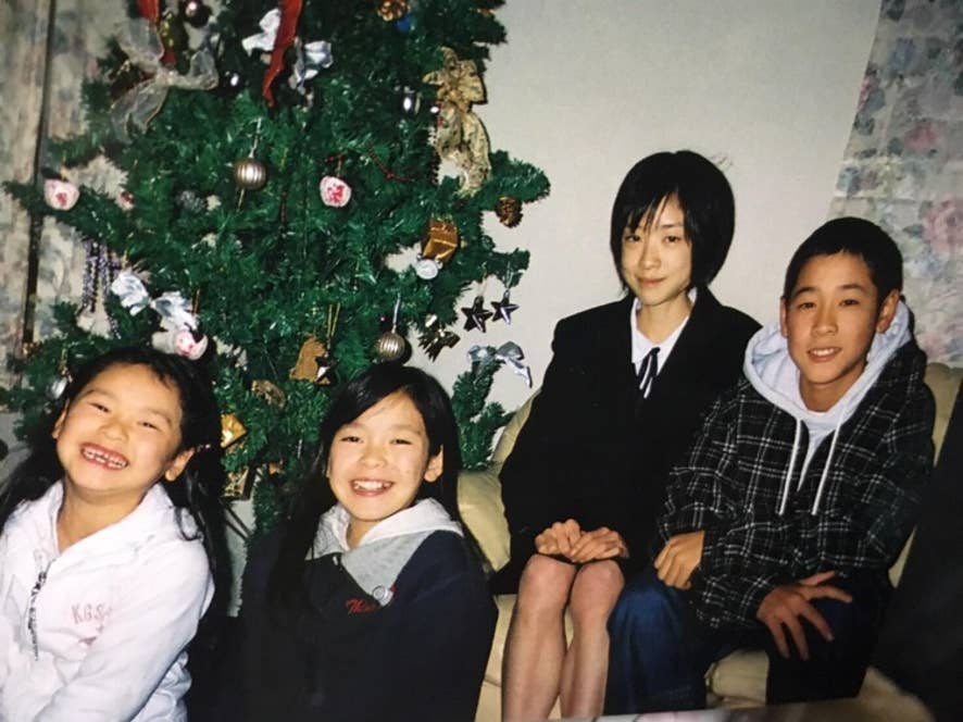 ▲病気時代の菅本さん(写真右から2番目)