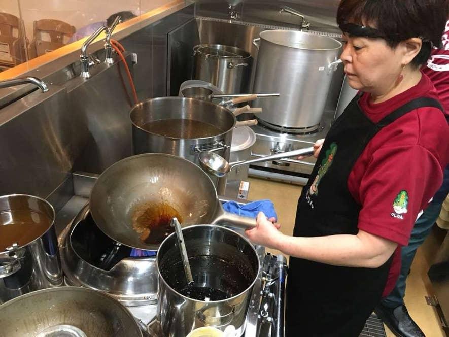 スープを中華鍋で焼くのは北海道の製法