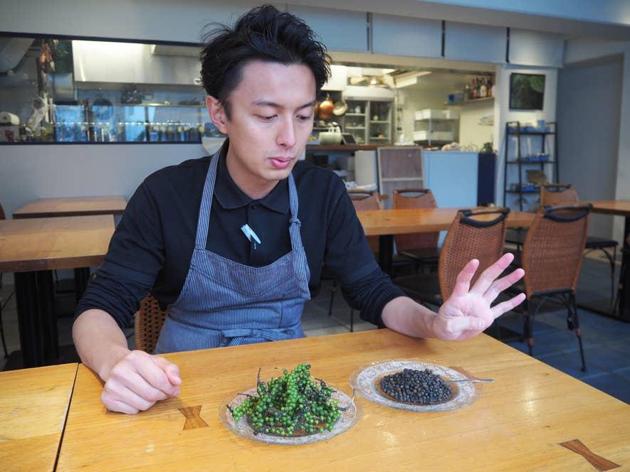▲料理を手がけメインシェフ兼マネージャーの小野大樹さん
