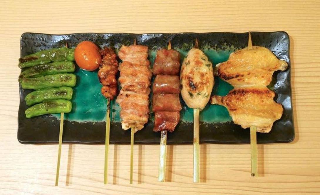 おすすめ串焼き6本 1800円(税抜)