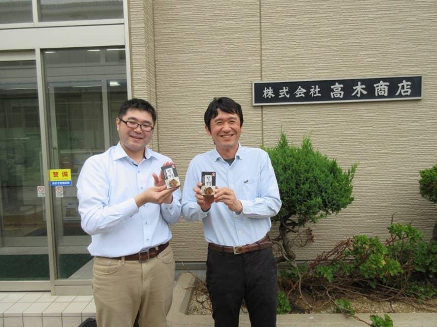 高木商店専務の高木貴史さんと豊島光伸さん