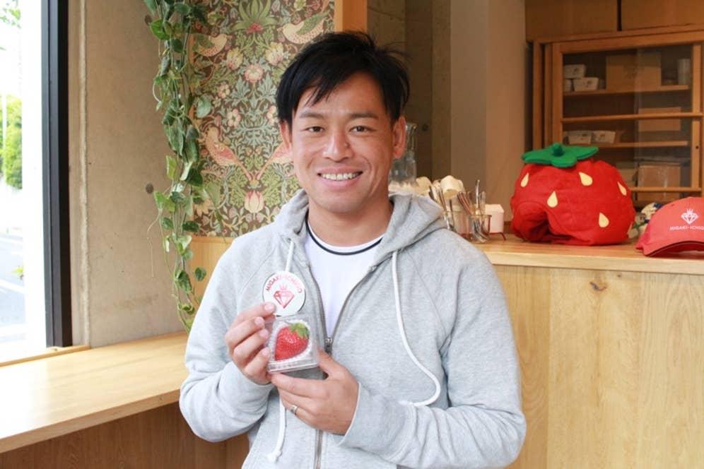 農業生産法人GRA代表の岩佐大輝さん