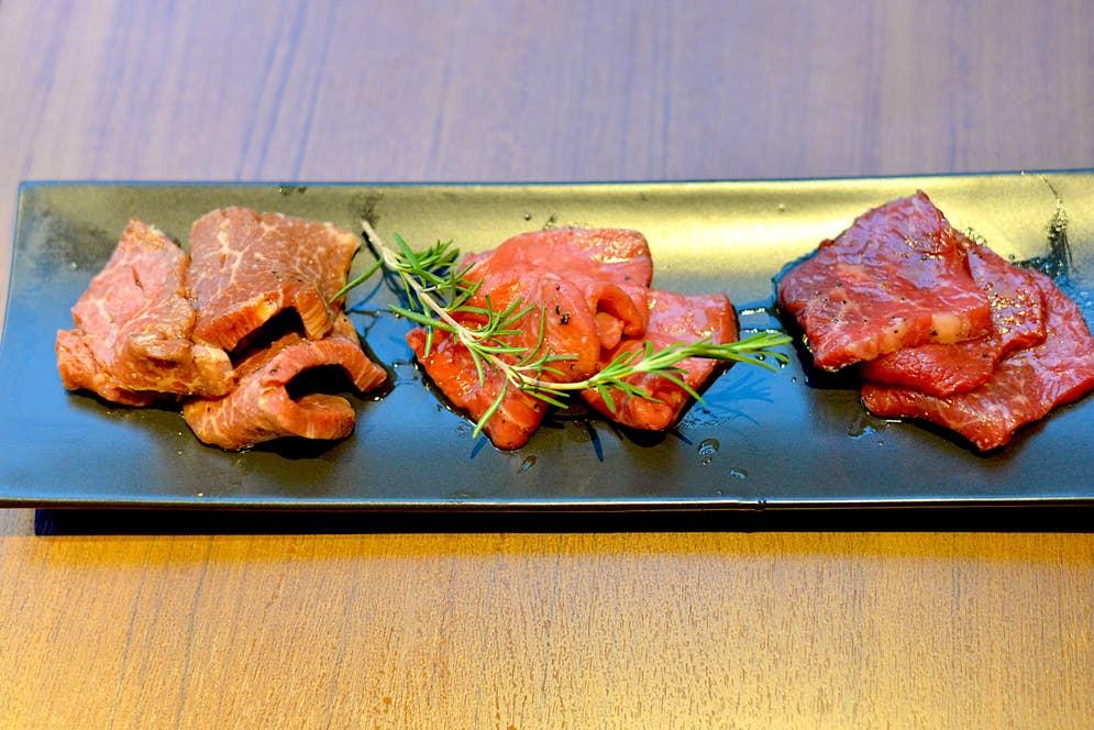 厳選 赤身肉の3種盛り合わせ