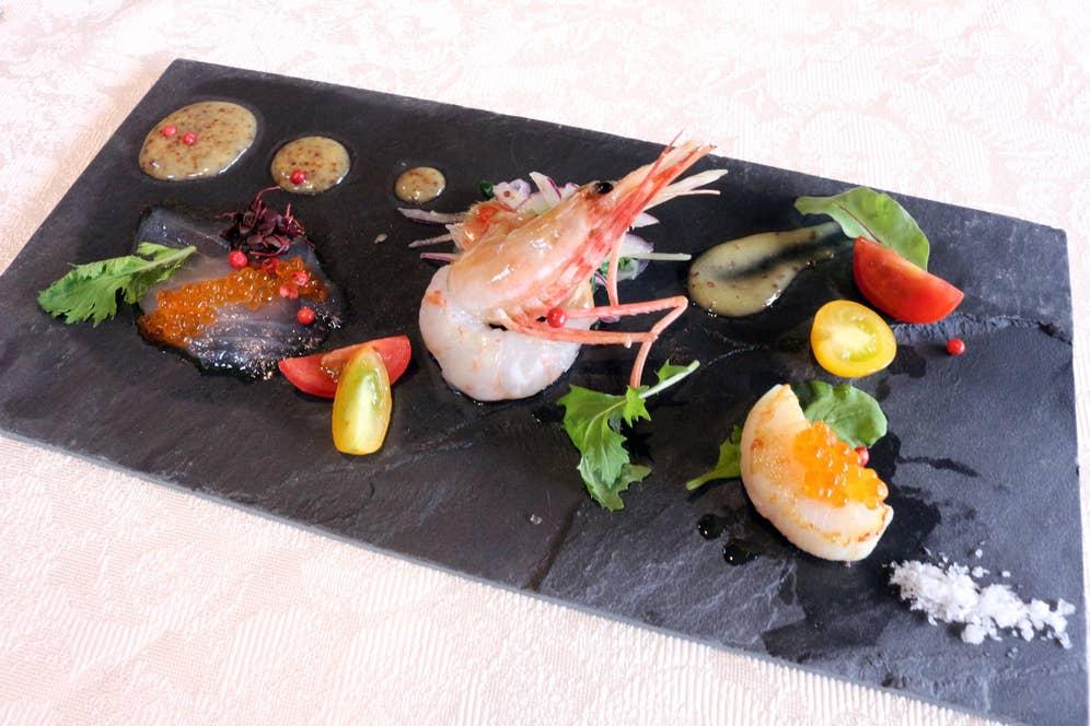 ▲鮮魚のクルード(お刺身)盛り合わせ