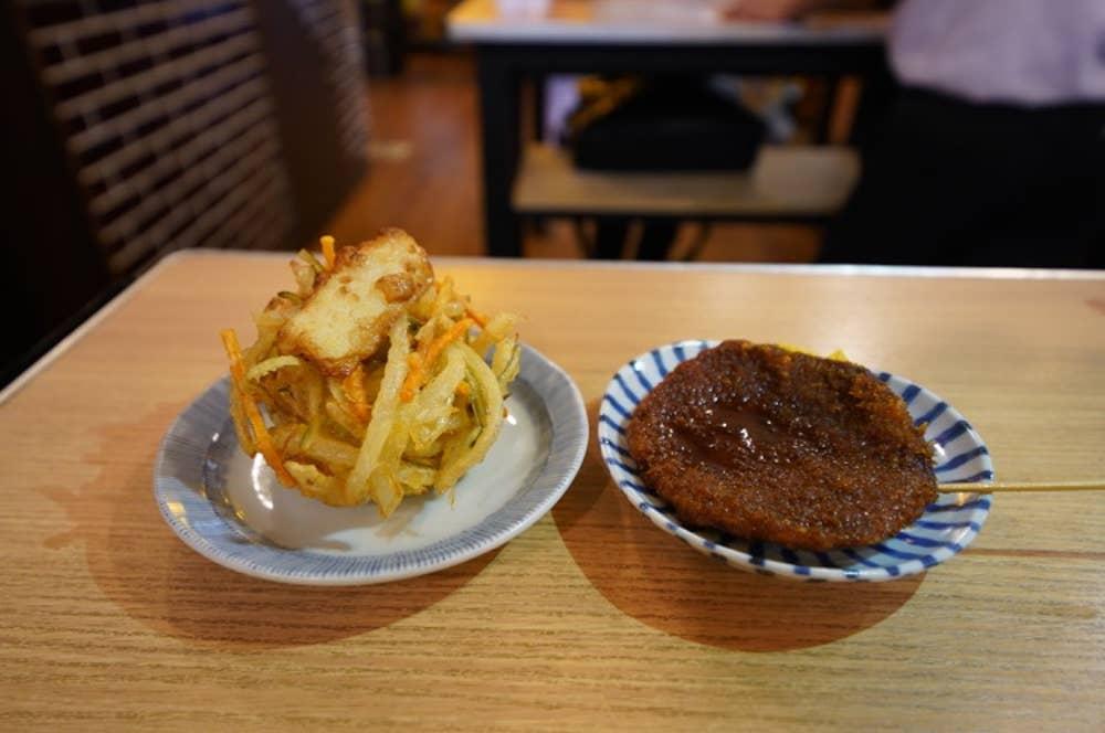 野菜天(写真左)