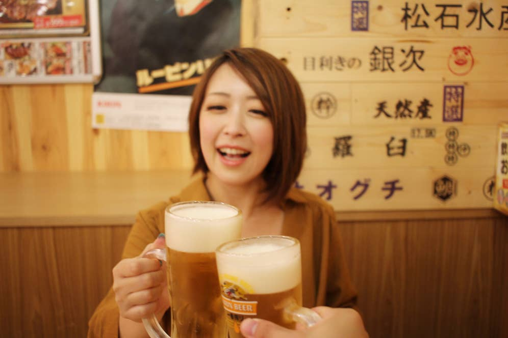 ▲生ビール中ジョッキ269円(税込) 通常価格538円(税込)