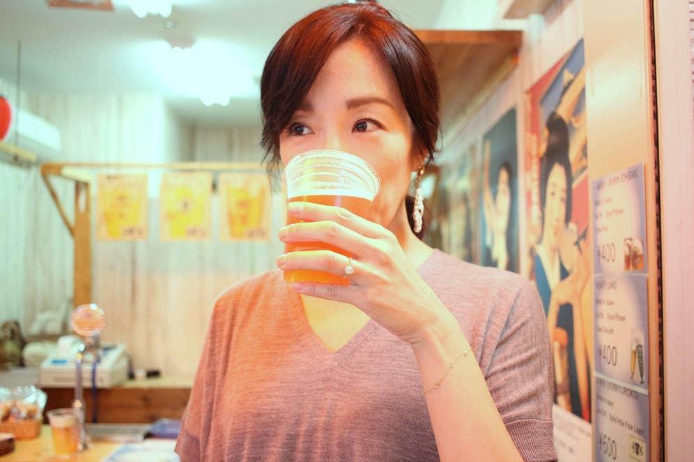 モーニングコーヒーならぬモーニングビール……至福!