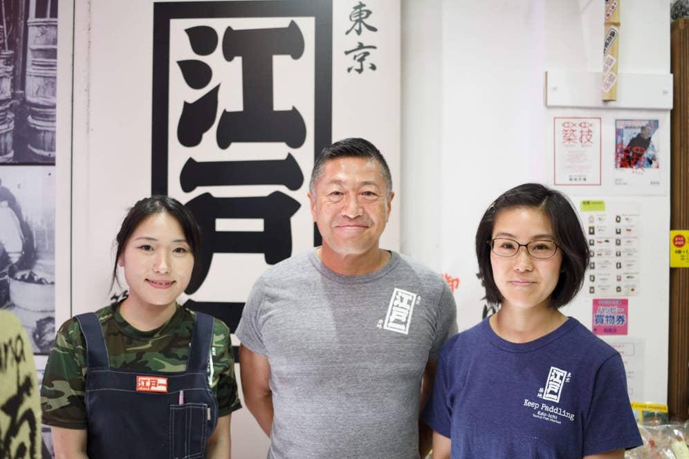 飯田さんやスタッフの方が着ている「江戸一」Tシャツも発売中!