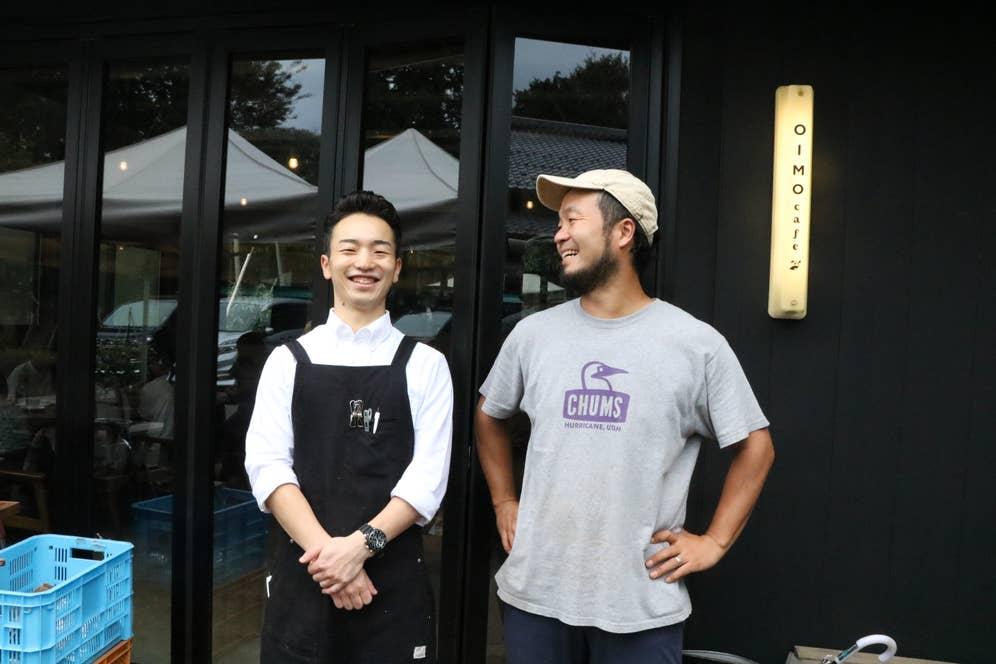 Oimocafeのスタッフで将来有望のコーヒー男子、野津魁星さんと