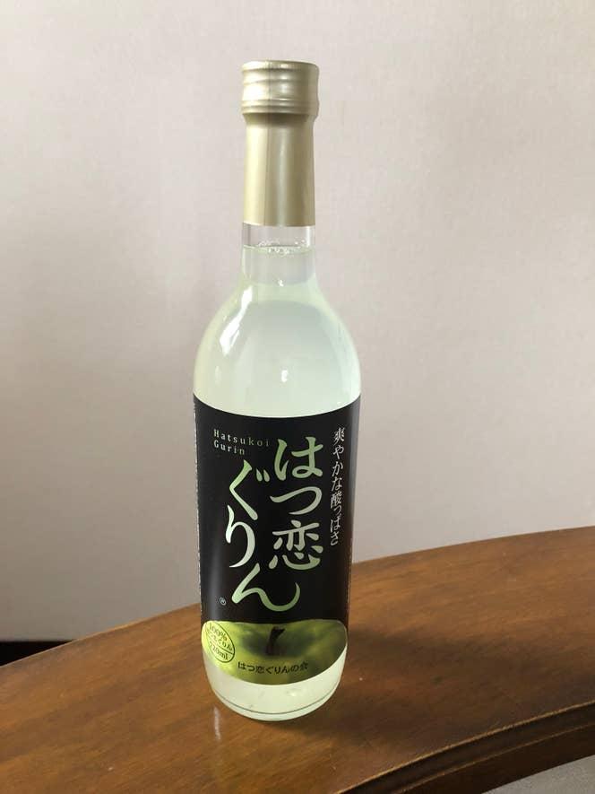 「はつ恋ぐりんジュース」。青森県アンテナショップ「北彩館」で発売。 はつ恋ぐりんの会へ連絡のうえ、発送も可能。