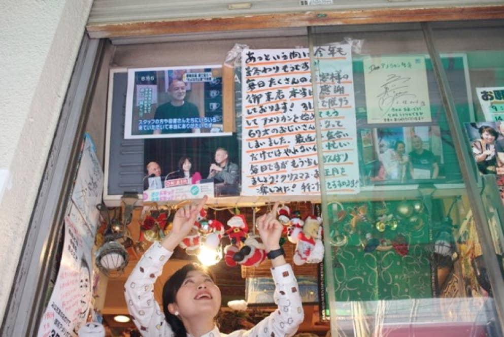 ▲店頭のテイクアウトコーナーに掲示されたマスターのお手紙