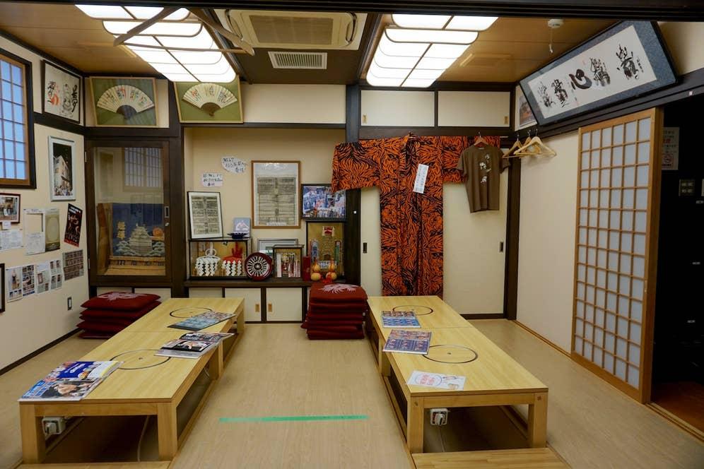 相撲展示室の様子