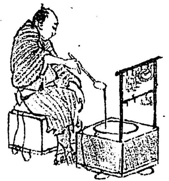『職人尽絵詞』の屋台職人(注3)