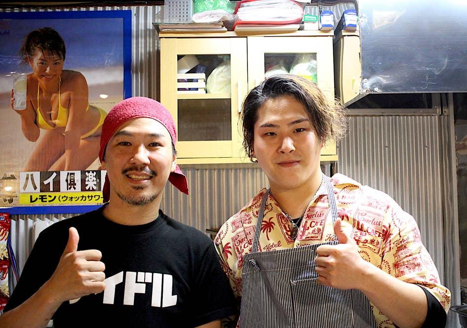 左:阿佐ヶ谷本店マスターの福岡さん 右:店長の大橋さん