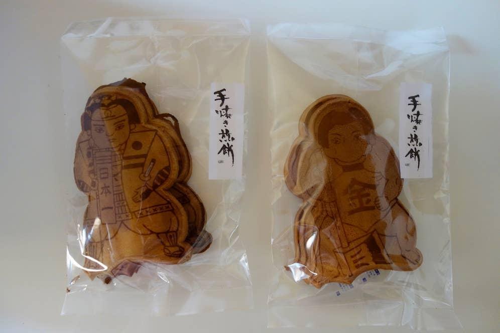 桃ちゃんと金ちゃん。浦ちゃんも欲しくなるね。3枚入り150円