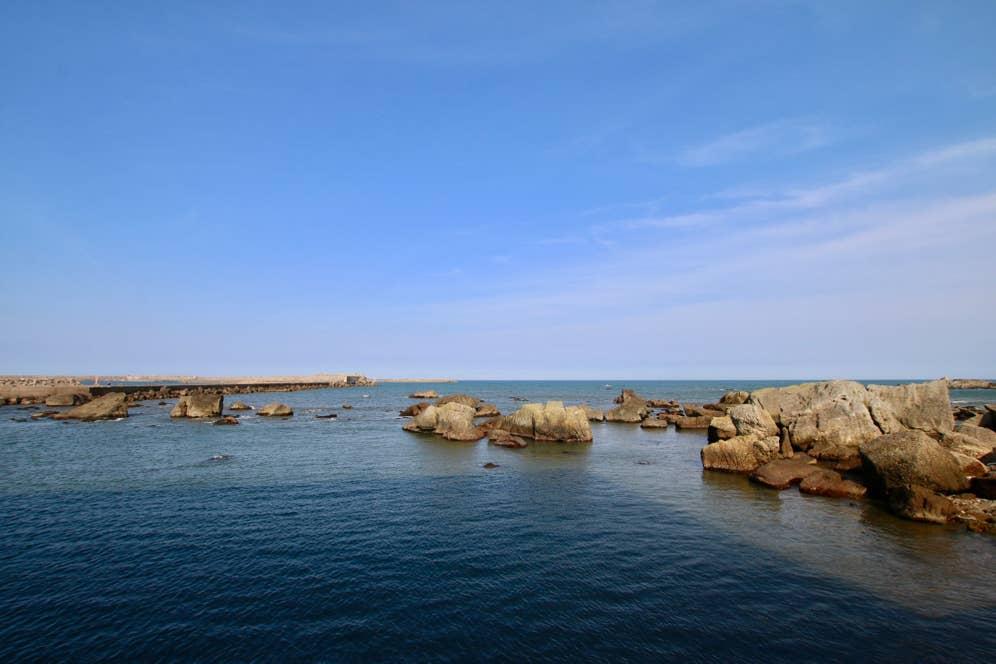 店から眺めた銚子の海