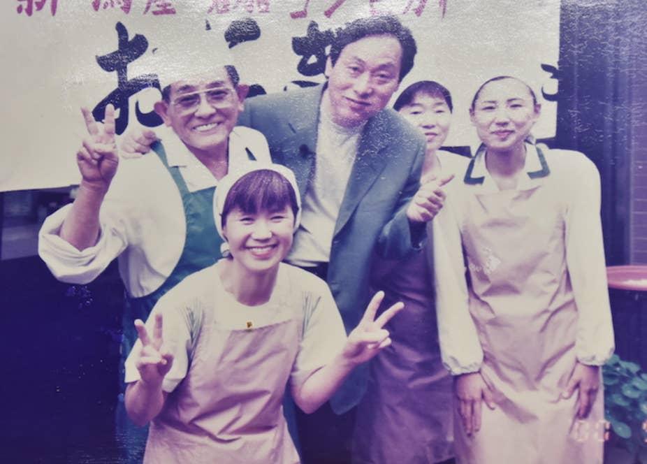 写真左下が由美子さん。左上が祐さん。お二人は27歳差の結婚だ