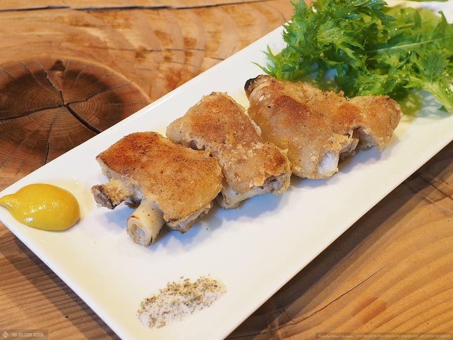 レストラン直樹(宮崎市)の豚足オイルソテー