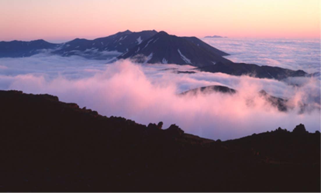 ▲北海道のほぼ中央に広がる「大雪山」