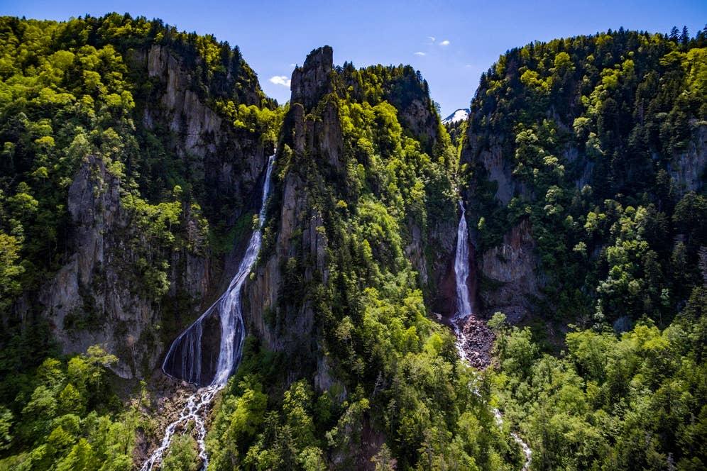 ▲自然がつくりだした美しい峡谷「層雲峡」