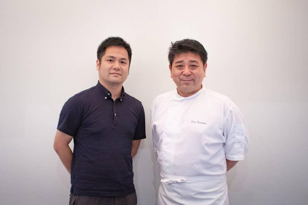 下村浩司氏(右)と梅田亮(左)