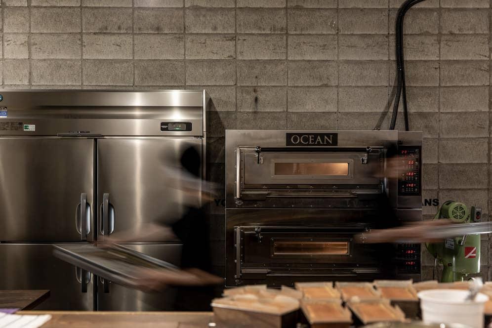 チーズテリーヌ を焼くオーブン