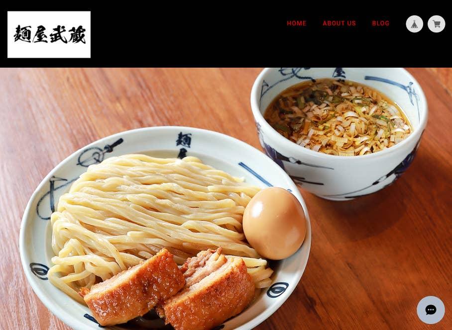 https://menya634.thebase.in/ 当初は「30分で作った」という<麺屋武蔵>の「BASE」ショップ。現在も矢都木さん自身がカスタマイズしている。